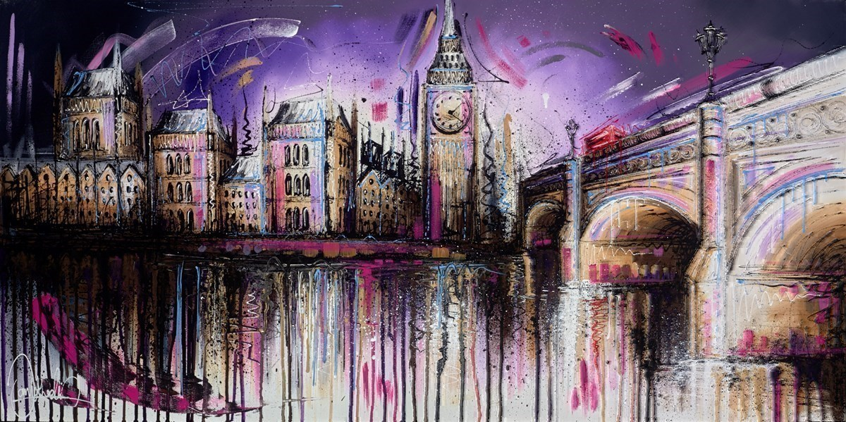 Mauve Monday II by Samantha Ellis -  sized 48x24 inches. Available from Whitewall Galleries
